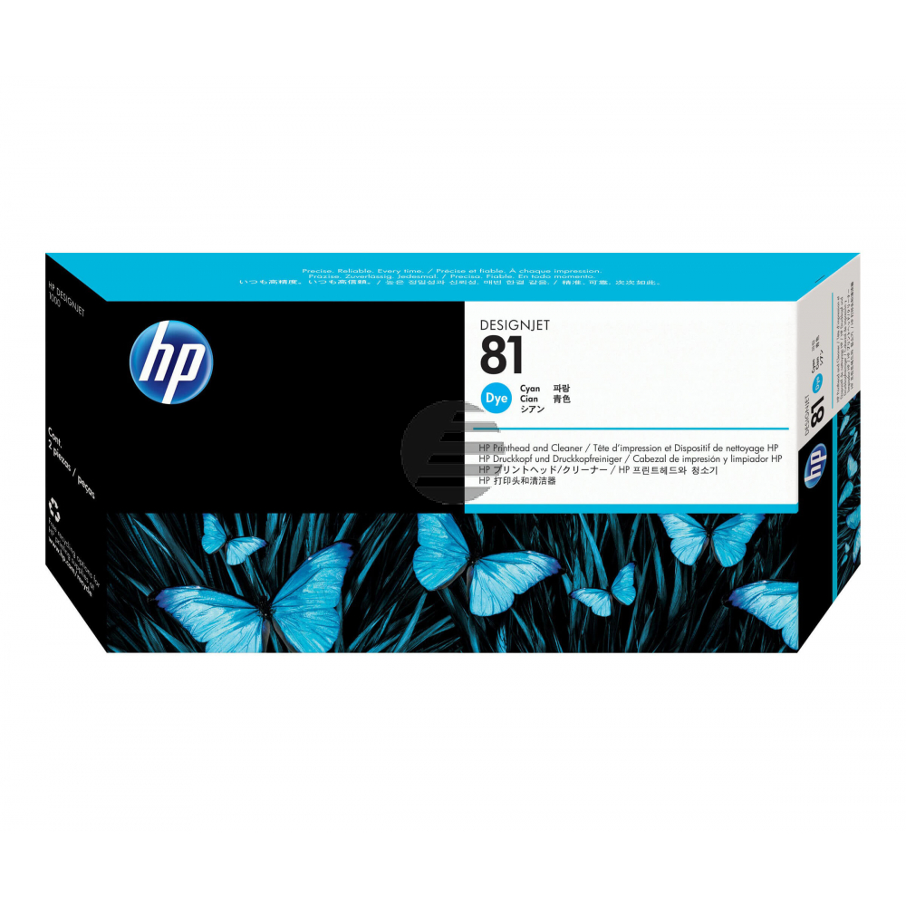 HP Tintendruckkopf cyan (C4951A, 81)