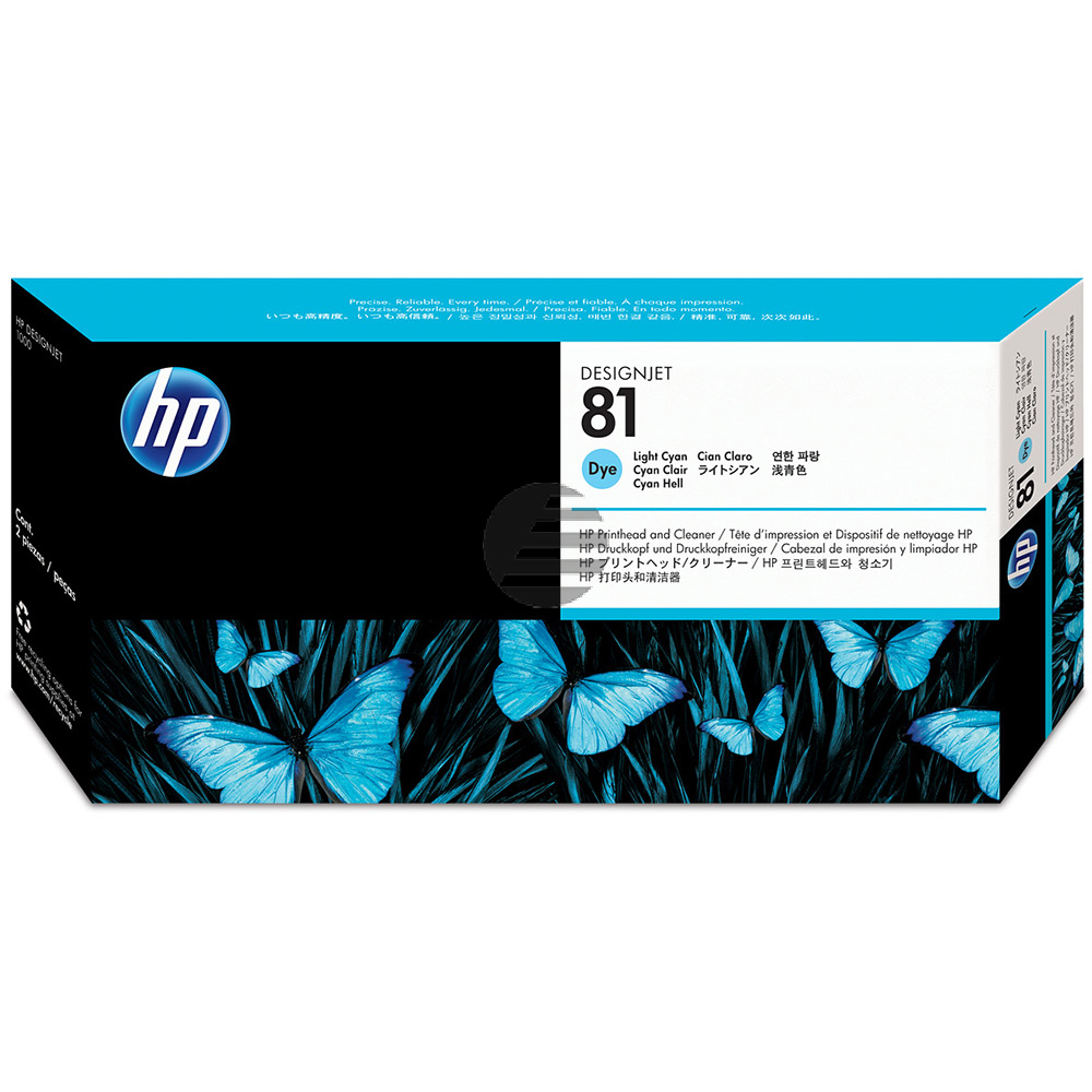 HP Tintendruckkopf cyan light (C4954A, 81)