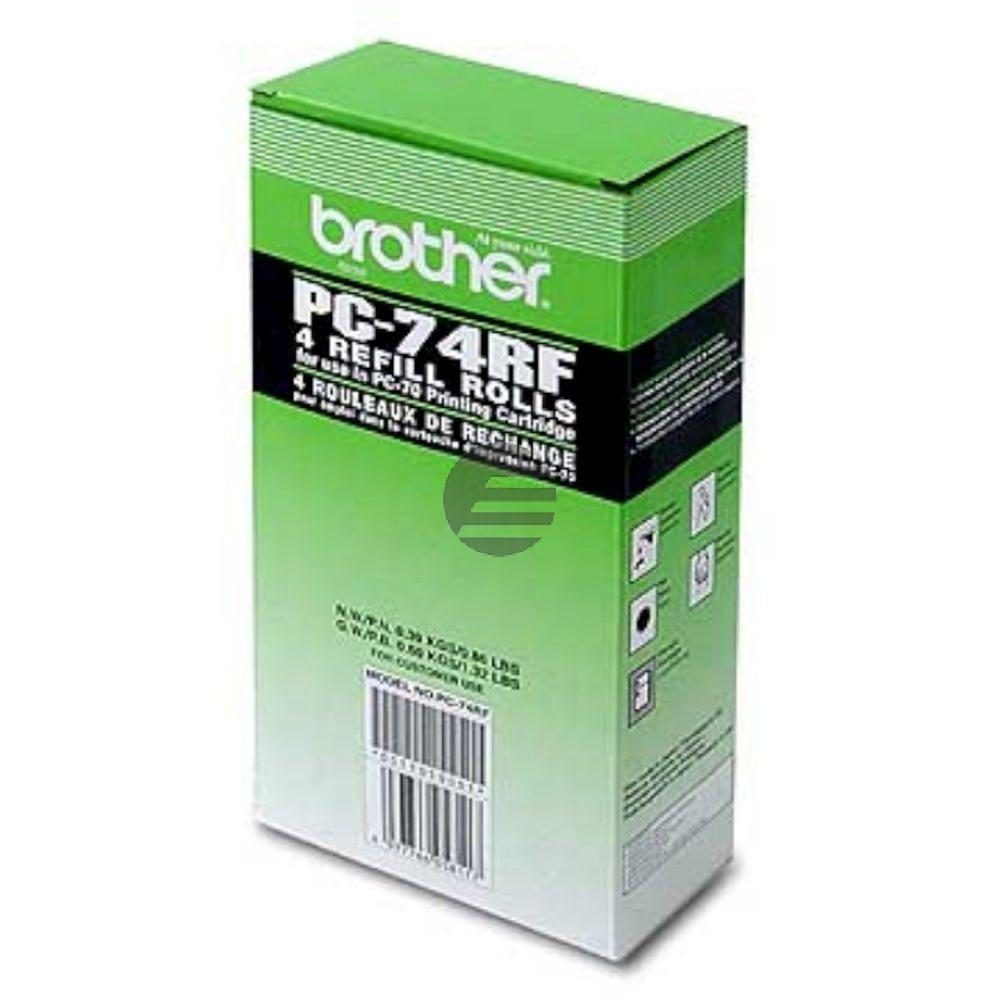 Brother Thermo-Transfer-Rolle 4 x schwarz (PC-74RF)