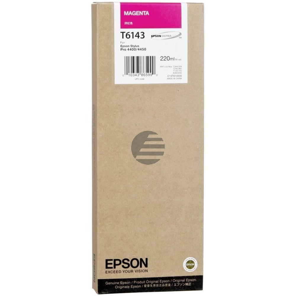 Epson Tintenpatrone magenta HC (C13T614300, T6143)