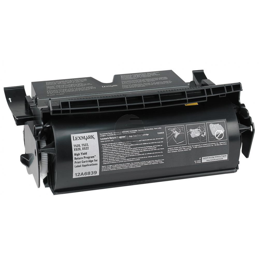 Lexmark Toner-Kartusche Prebate speziell für Etiketten schwarz (12A6839)