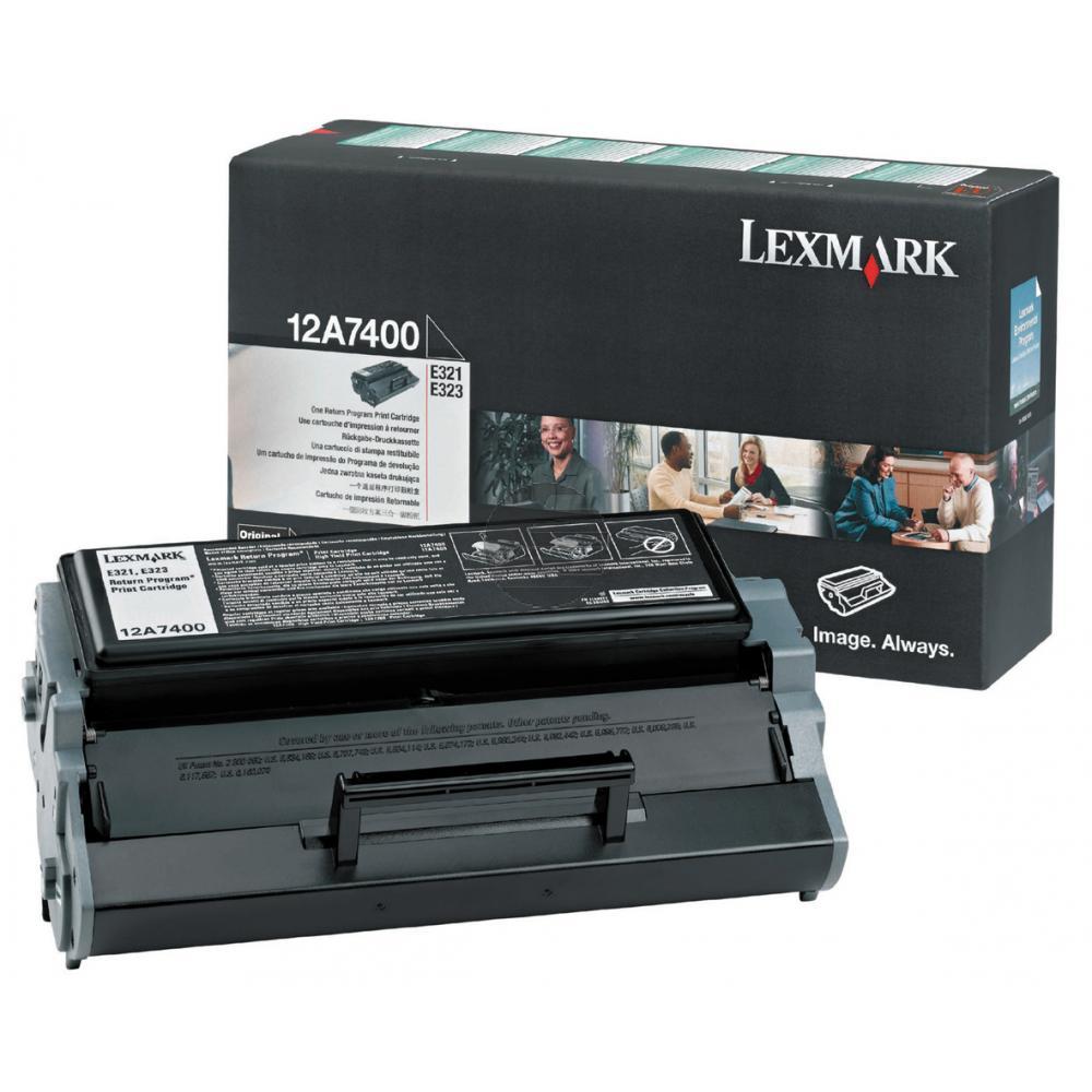 Lexmark Toner-Kartusche Prebate schwarz (12A7400)