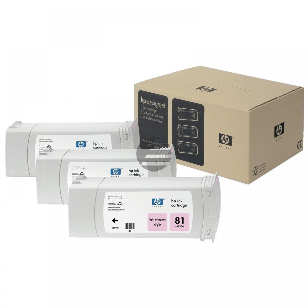 HP Tintenpatrone 3 x magenta light (C5071A, 81)