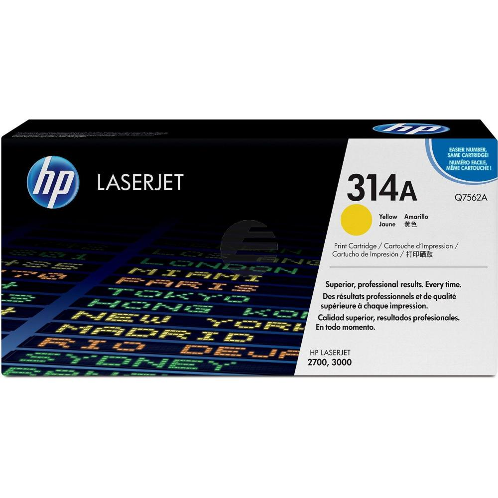 HP Toner-Kartusche gelb (Q7562A, 314A)