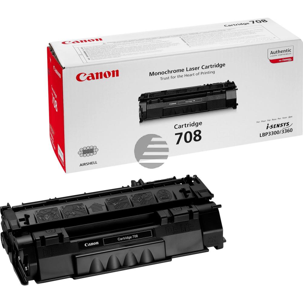 Canon Toner-Kartusche schwarz (0266B002, 708)