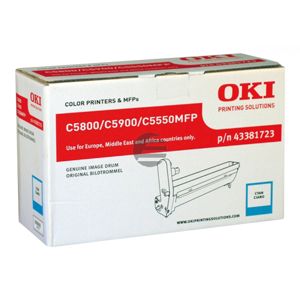 OKI Fotoleitertrommel cyan (43381723)