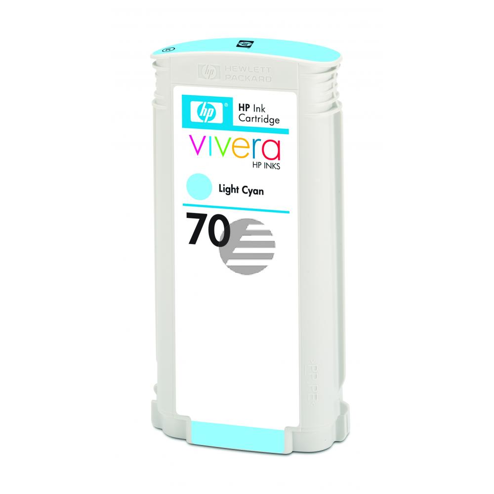 HP Tintenpatrone cyan light (C9390A, 70)