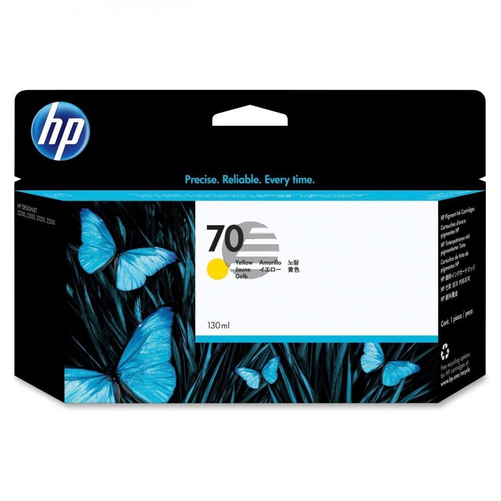 HP Tintenpatrone gelb (C9454A, 70)