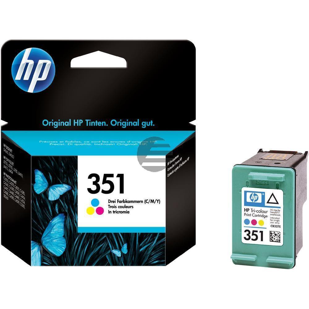 HP Tintendruckkopf cyan/gelb/magenta (CB337EE, 351)