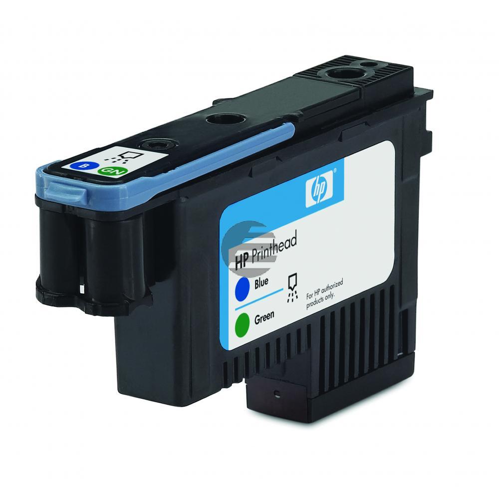 HP Tintendruckkopf blau/grün (C9408A, 70)