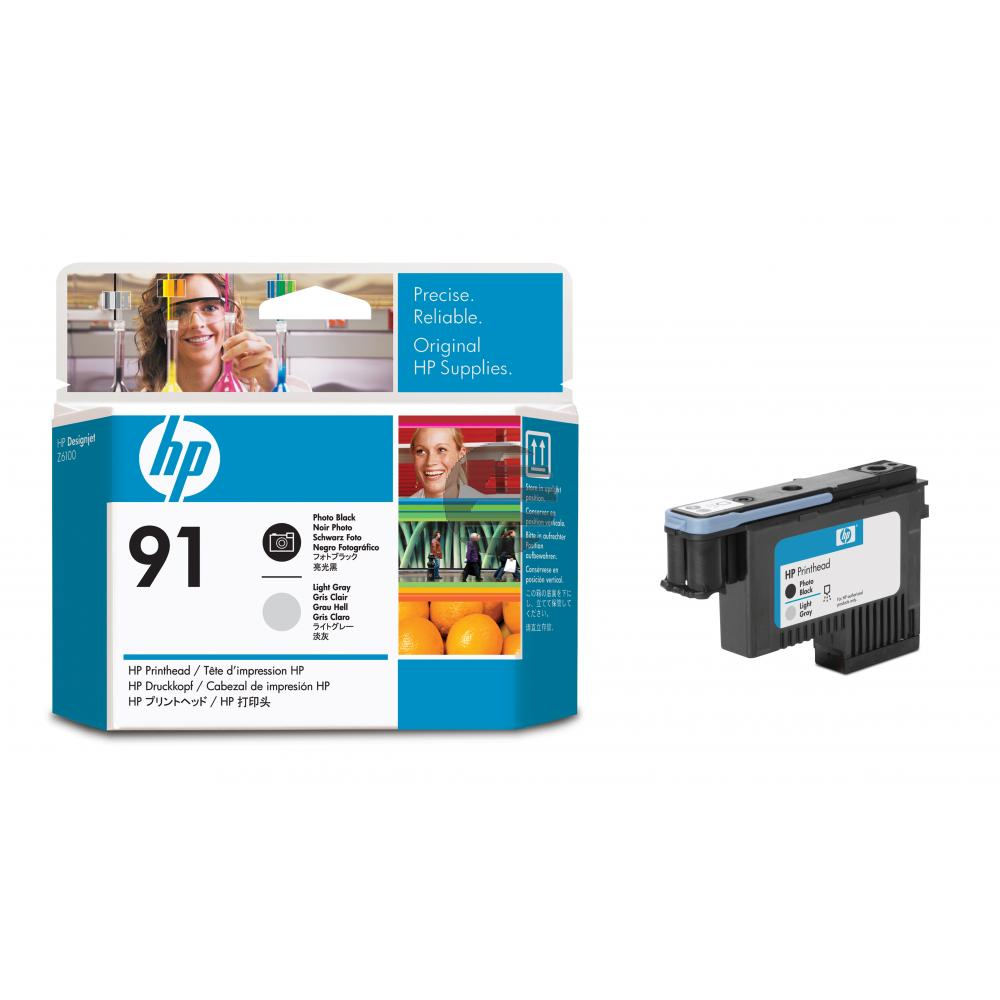 HP Tintendruckkopf schwarz photo/grau light (C9463A, 91)