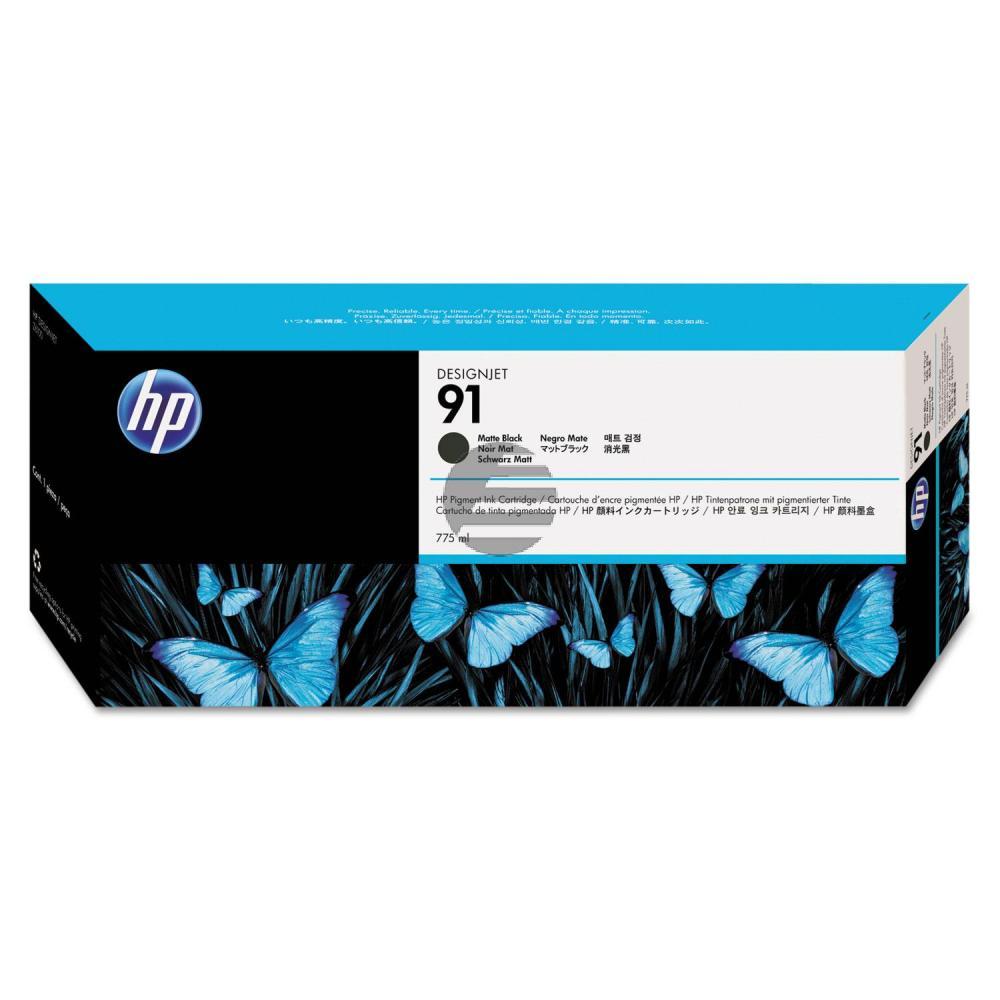 HP Tintenpatrone schwarz matt (C9464A, 91)