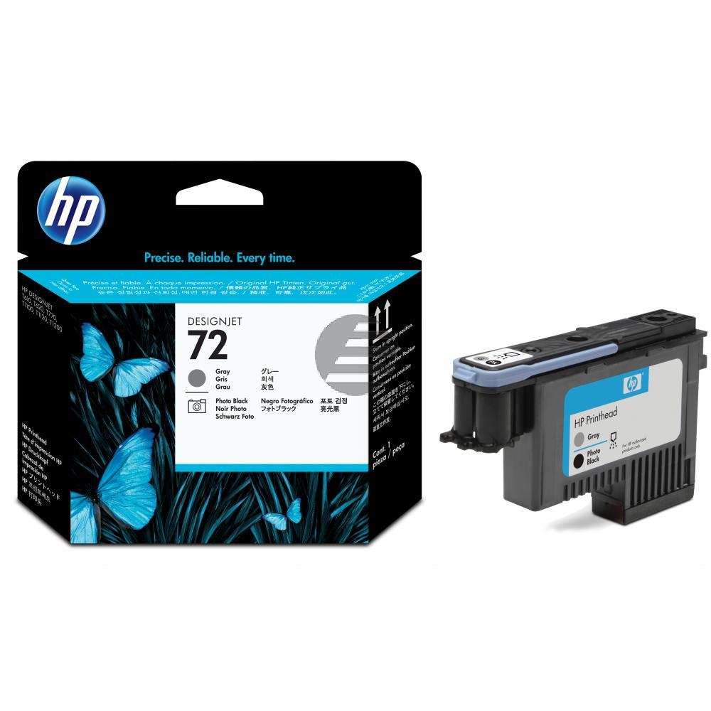 HP Tintendruckkopf grau/schwarz photo (C9380A, 72)