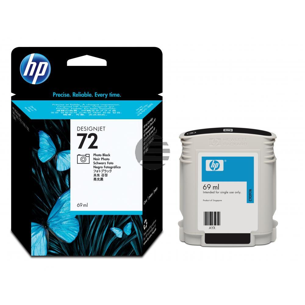 HP Tintenpatrone photo schwarz (C9397A, 72)