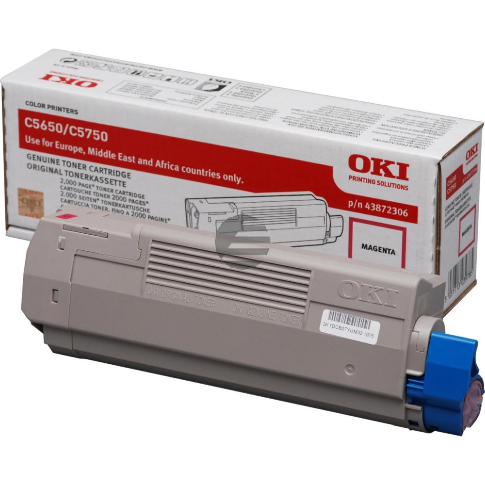 OKI Toner-Kit magenta (43872306)