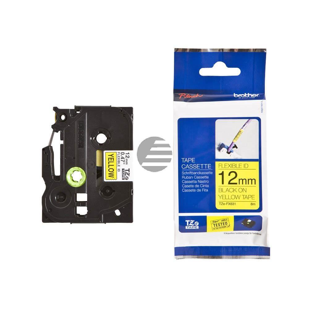 Brother Schriftbandkassette schwarz/gelb (TZE-FX631)