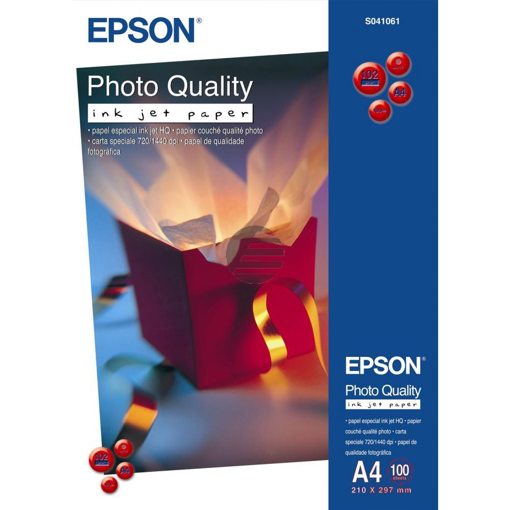 Epson Photo Quality Ink Jet Paper DIN A4 10 Seiten weiß 100 Blatt DIN A4 102 g/m² (C13S041061)