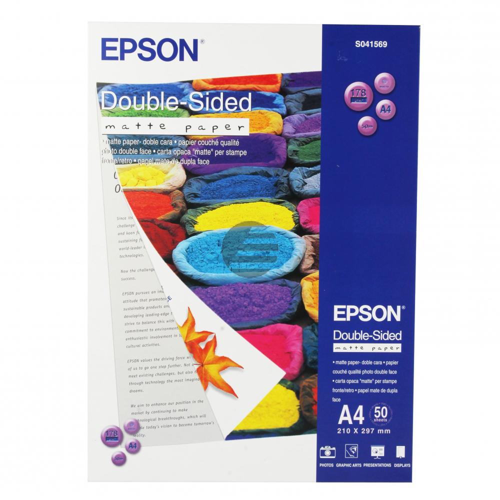 Epson Double-Sided Matte Paper DIN A4 weiß 50 Blatt DIN A4 (C13S041569)