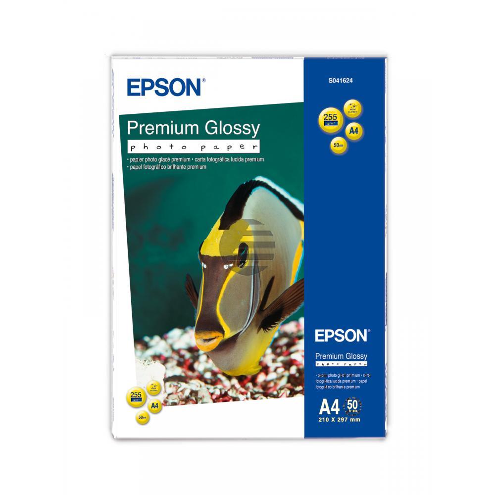 Epson Premium Glossy Photopapier DIN A4 weiß 50 Blatt DIN A4 (C13S041624)
