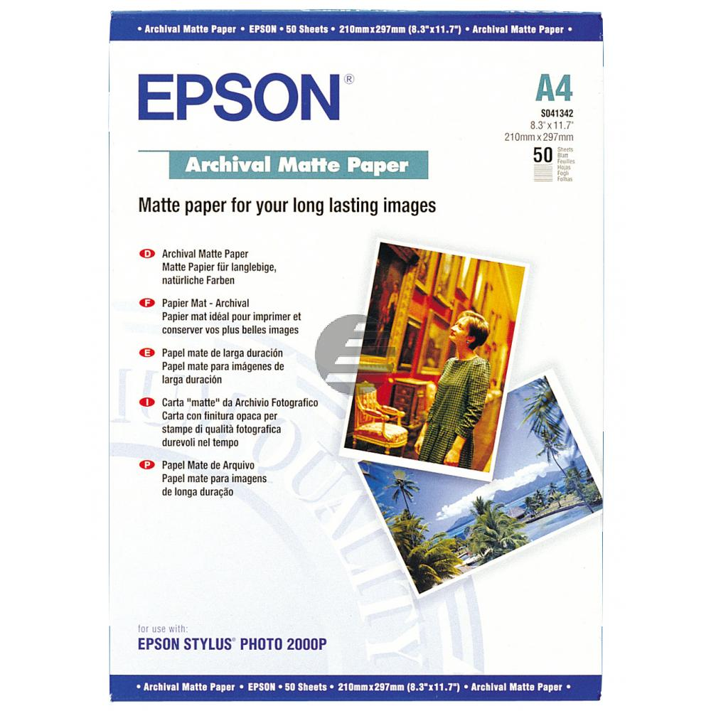 Epson Archival Matte Paper DIN A4 weiß 50 Blatt DIN A4 (C13S041342)
