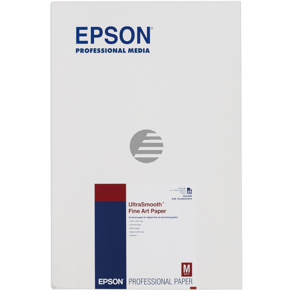 Epson Ultrasmooth Fine Art Papier (325) DIN A3+ 25 Seiten weiß (C13S041896)