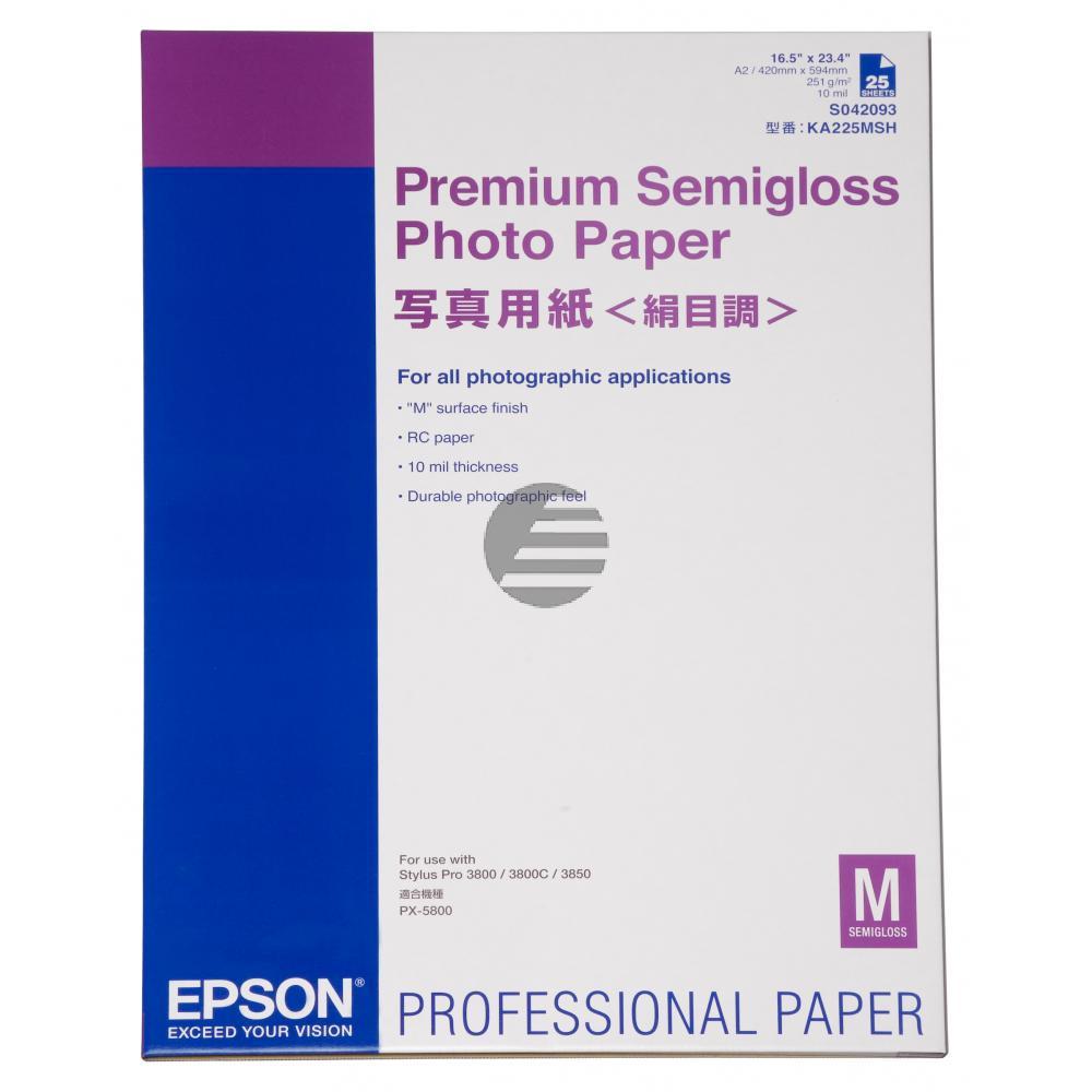 Epson Premium Semigloss Photopapier weiß DIN A2 (C13S042093)