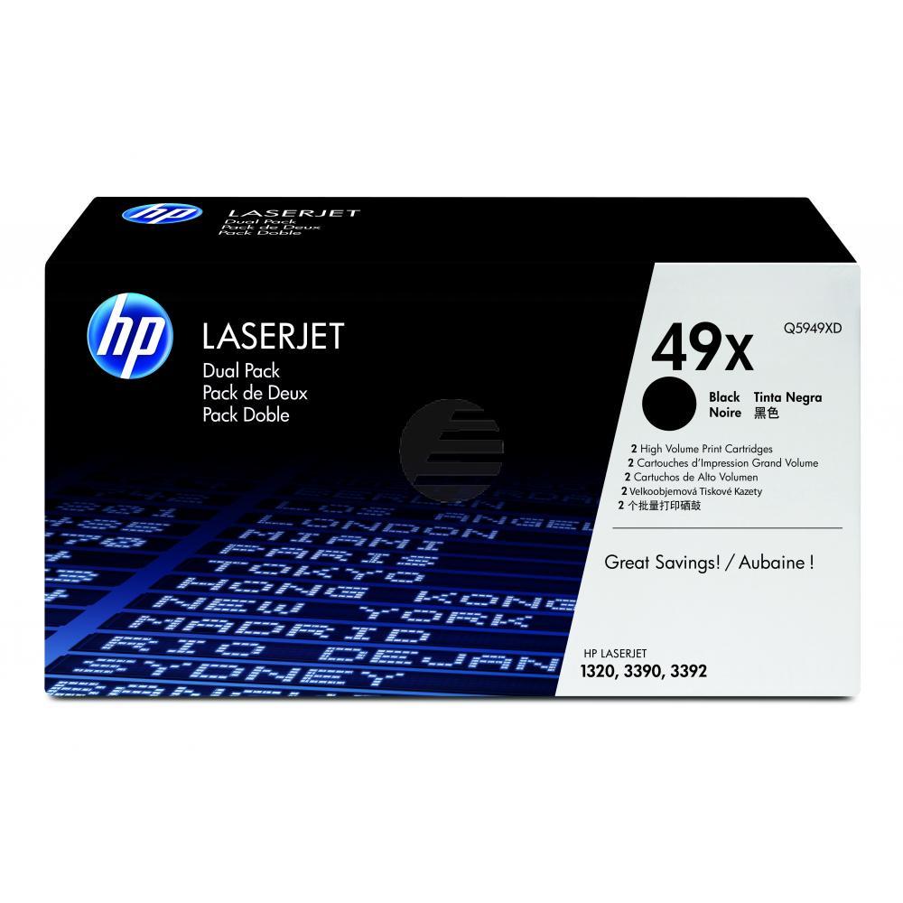 HP Toner-Kartusche 2 x schwarz HC (Q5949XD, 49XD)