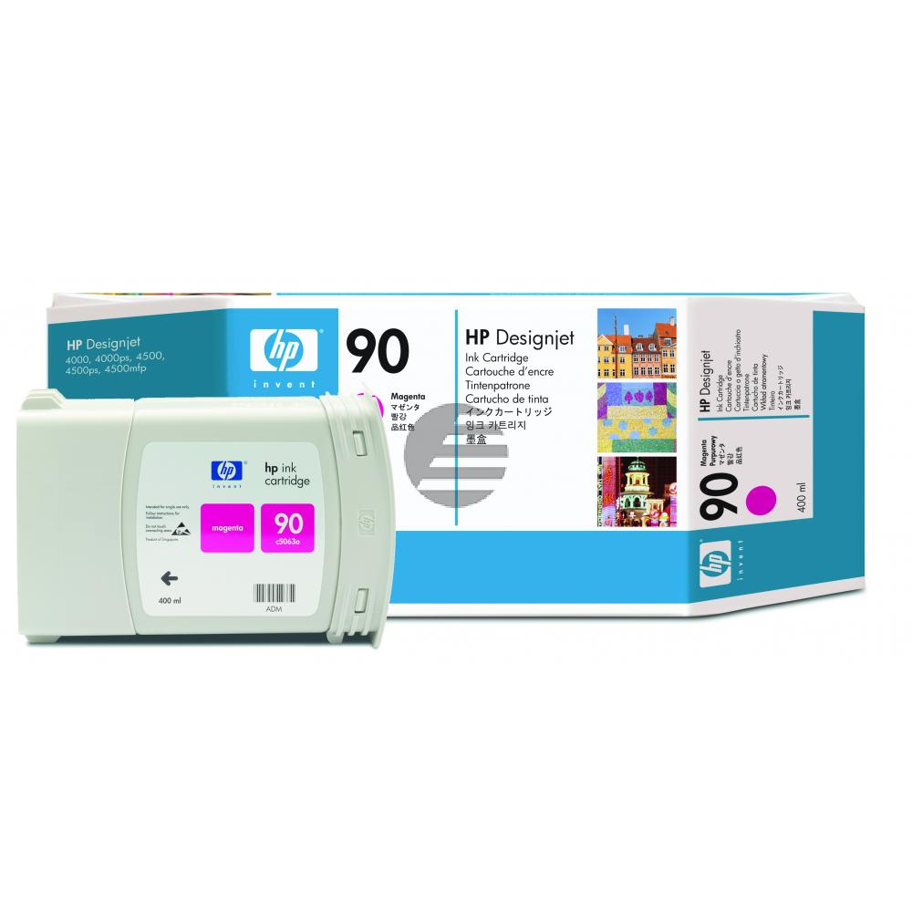 HP Tintenpatrone magenta HC (C5063A, 90)