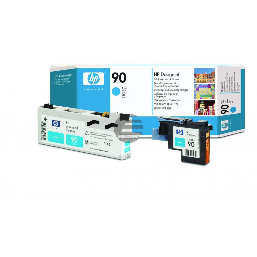 HP Tintendruckkopf cyan (C5055A, 90)