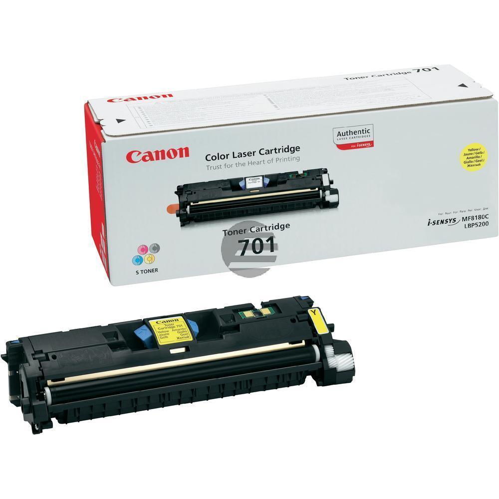 Canon Toner-Kit gelb HC (9284A003, CL-701Y, EP-701Y)