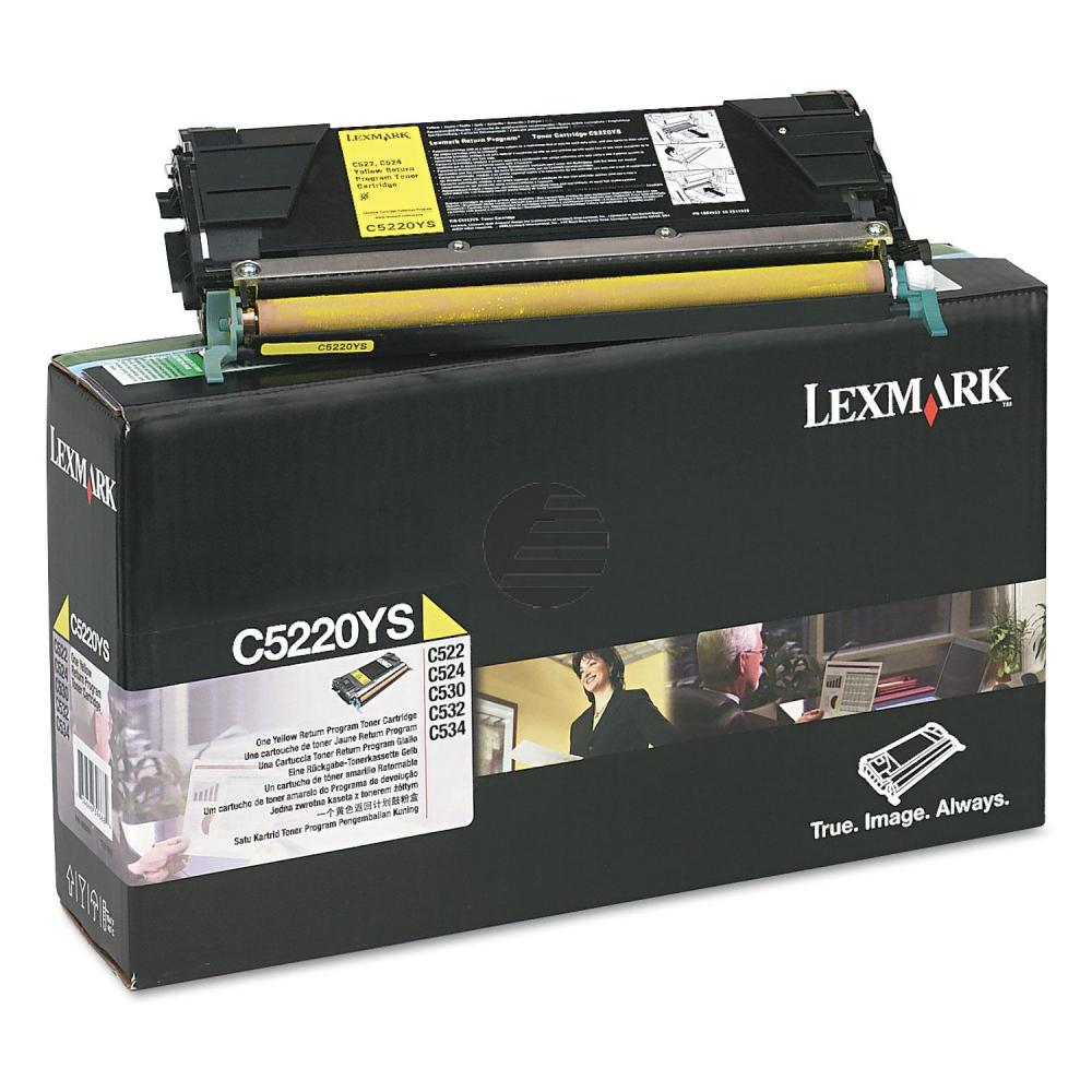 Lexmark Toner-Kartusche Prebate gelb (C5220YS)