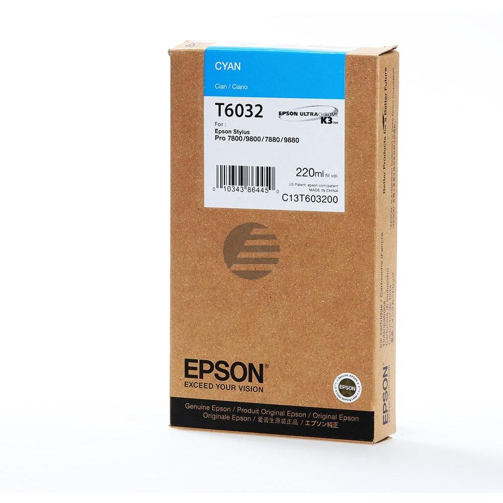 Epson Tintenpatrone cyan HC (C13T603200, T6032)