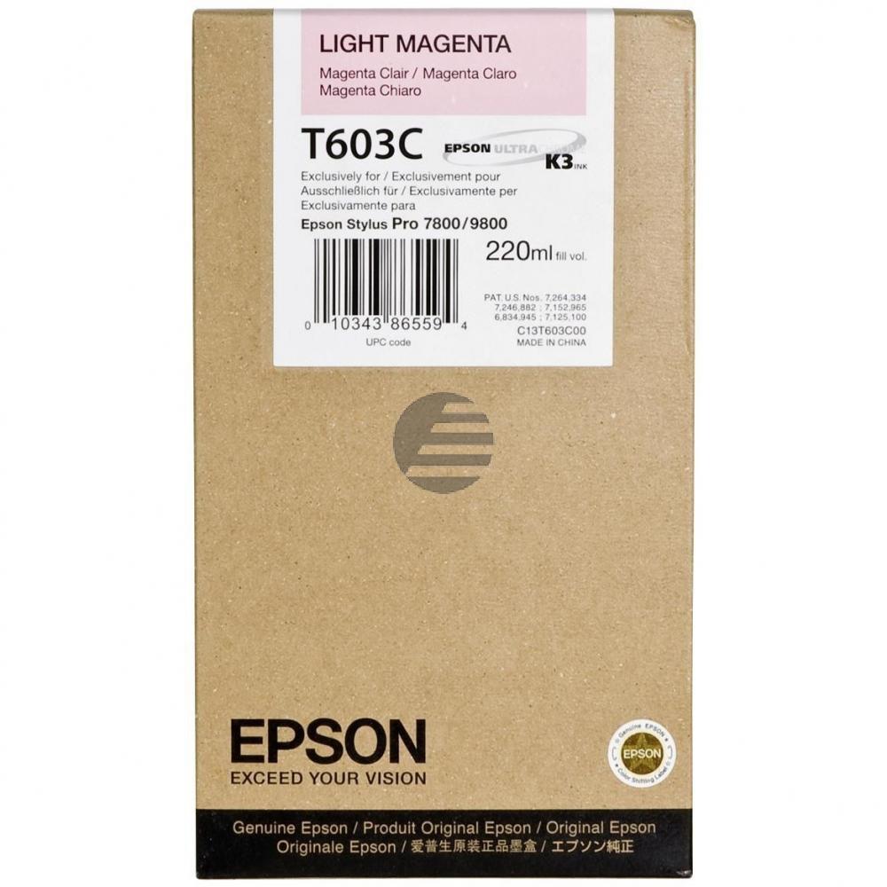 Epson Tintenpatrone magenta light HC (C13T603C00, T603C)