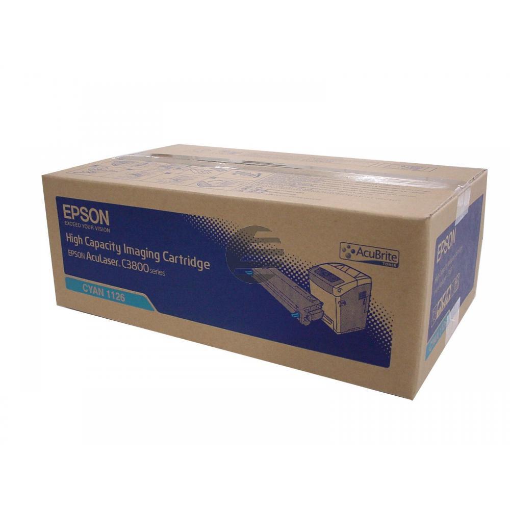 Epson Toner-Kartusche cyan HC (C13S051126, 1126)