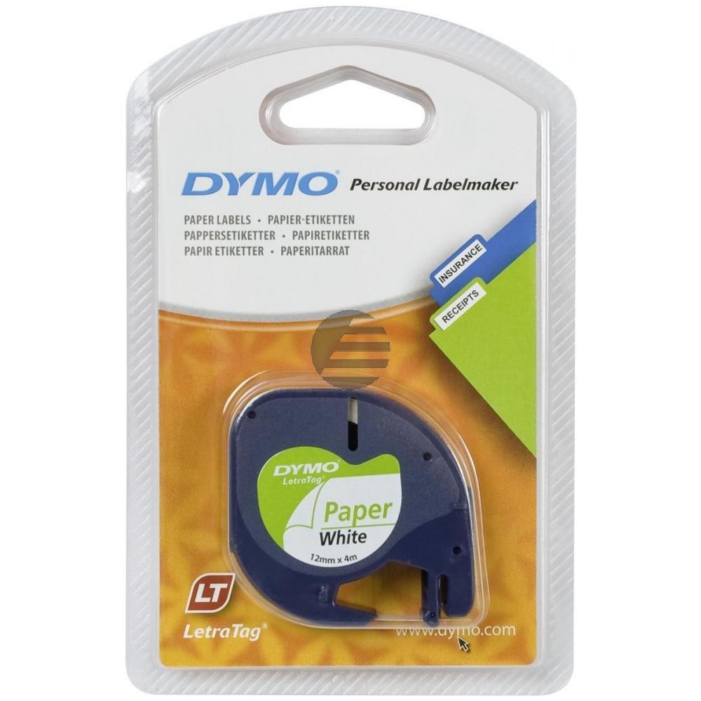 Dymo Schriftbandkassette schwarz/weiß (91220)