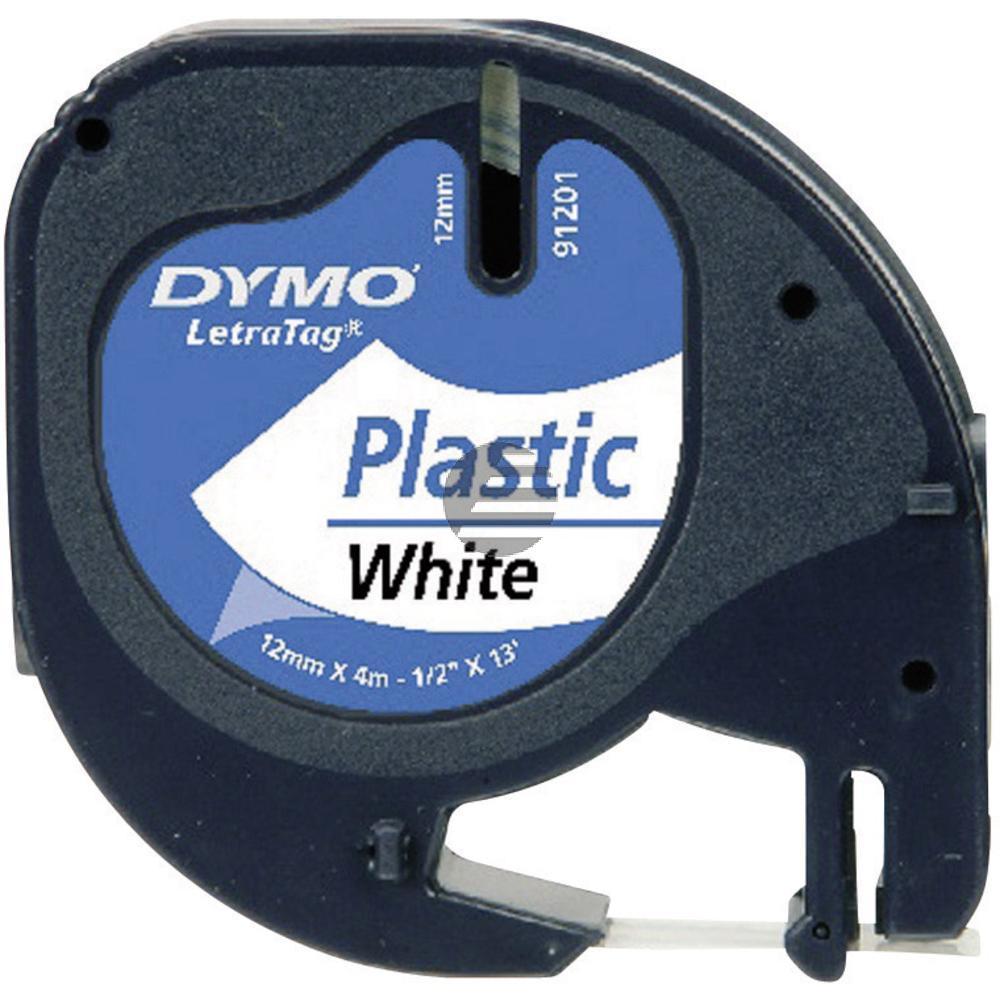 Dymo Schriftbandkassette schwarz/weiß (91221)