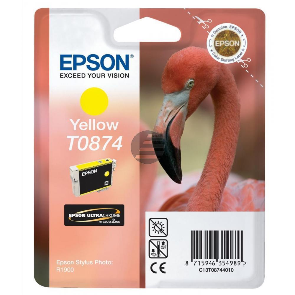 Epson Tintenpatrone gelb (C13T08744010, T0874)