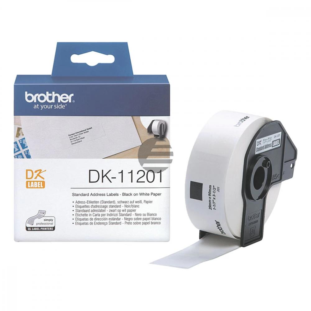 Brother Adress-Etiketten weiß (DK11201)