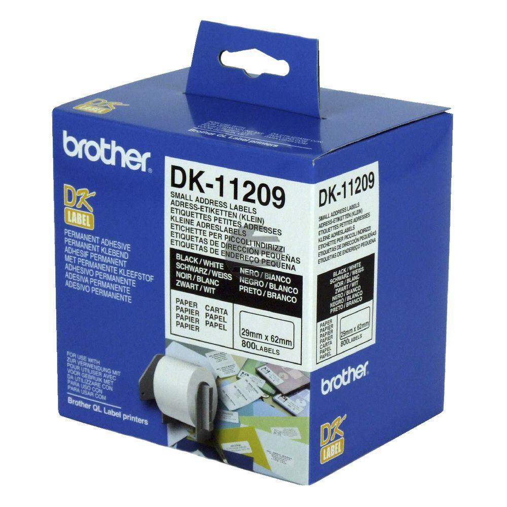 Brother Adress-Etiketten weiß (DK11209)