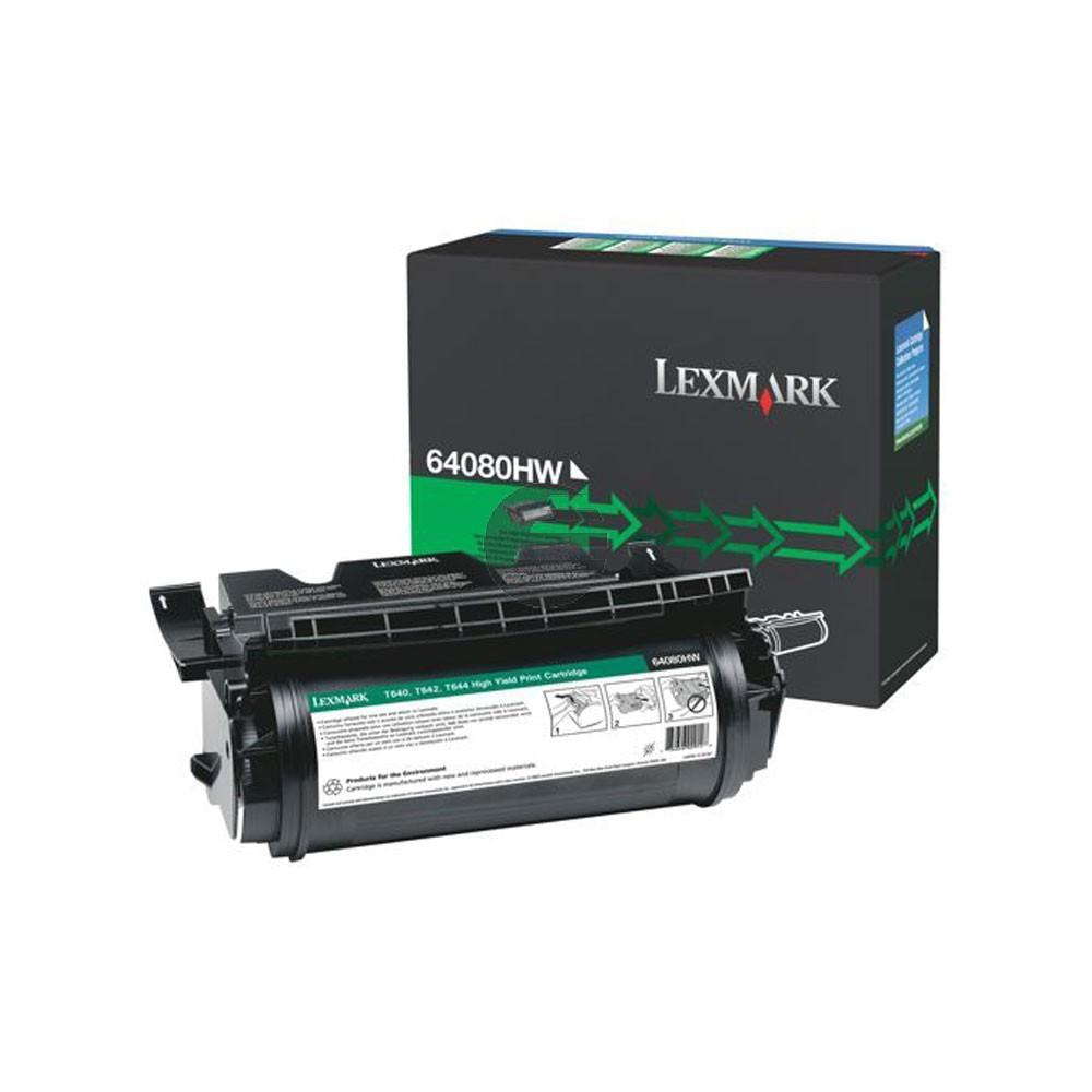 Lexmark Toner-Kartusche refurbished schwarz HC (64080HW)