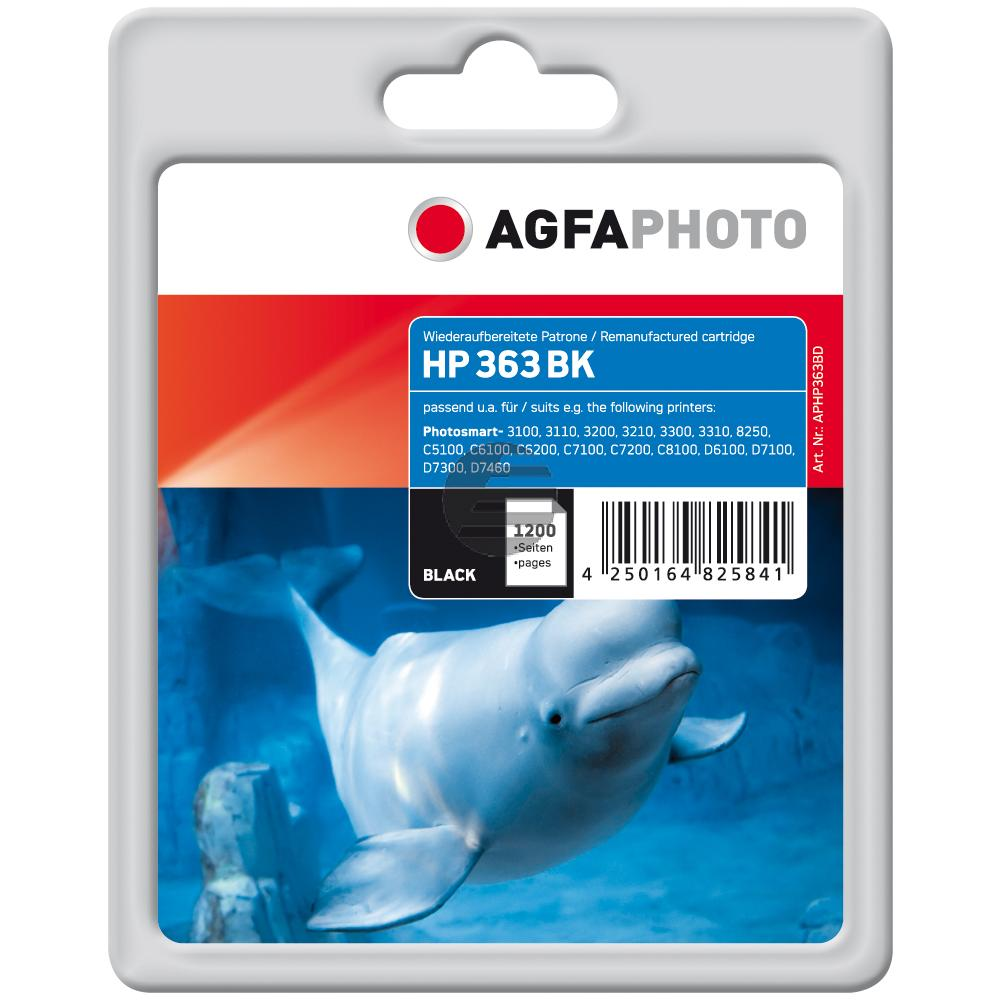 Agfaphoto Tintenpatrone schwarz HC (APHP363BD) ersetzt 363XL