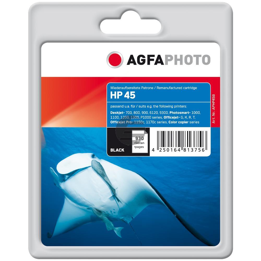 Agfaphoto Tintendruckkopf schwarz HC (APHP45B) ersetzt 45