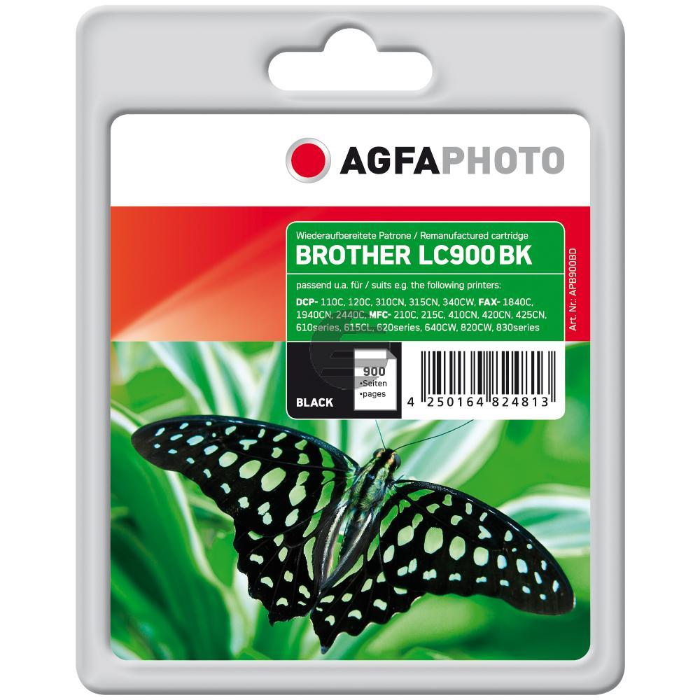 Agfaphoto Tintenpatrone schwarz (APB900BD) ersetzt LC-900BK