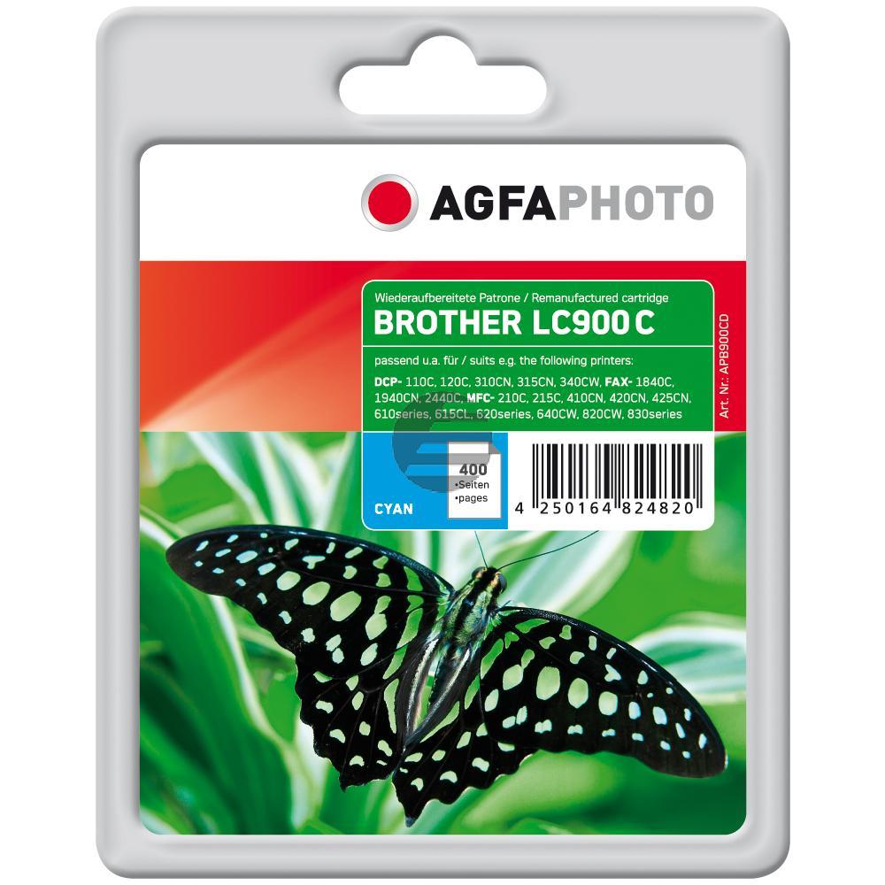 Agfaphoto Tintenpatrone cyan (APB900CD) ersetzt LC-900C