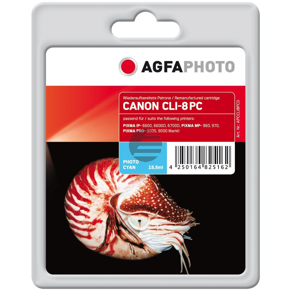Agfaphoto Tintenpatrone photo cyan (APCCLI8PCD) ersetzt CLI-8PC