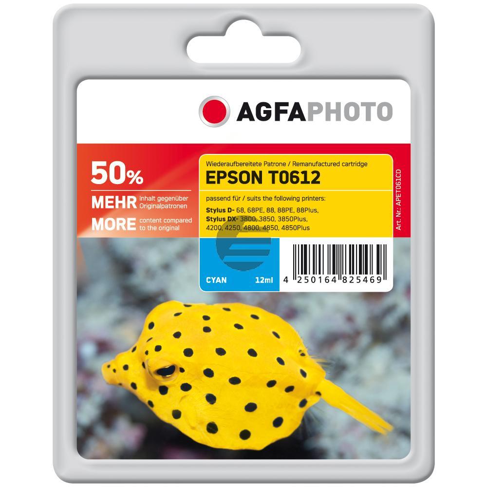 Agfaphoto Tintenpatrone cyan (APET061CD) ersetzt T0612