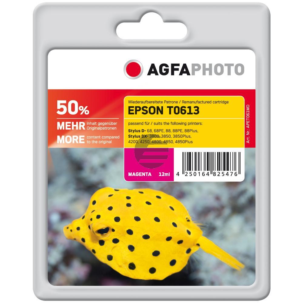 Agfaphoto Tintenpatrone magenta (APET061MD) ersetzt T0613