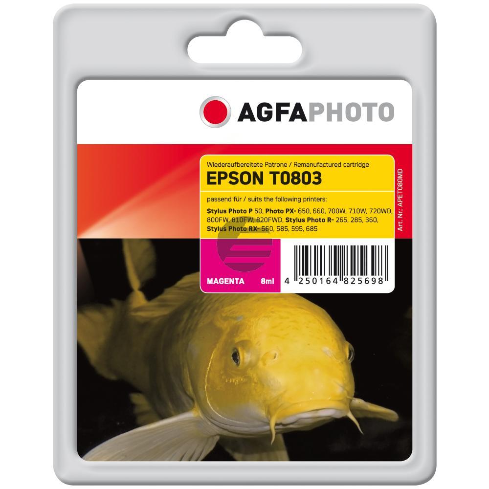 Agfaphoto Tintenpatrone magenta (APET080MD) ersetzt T0803