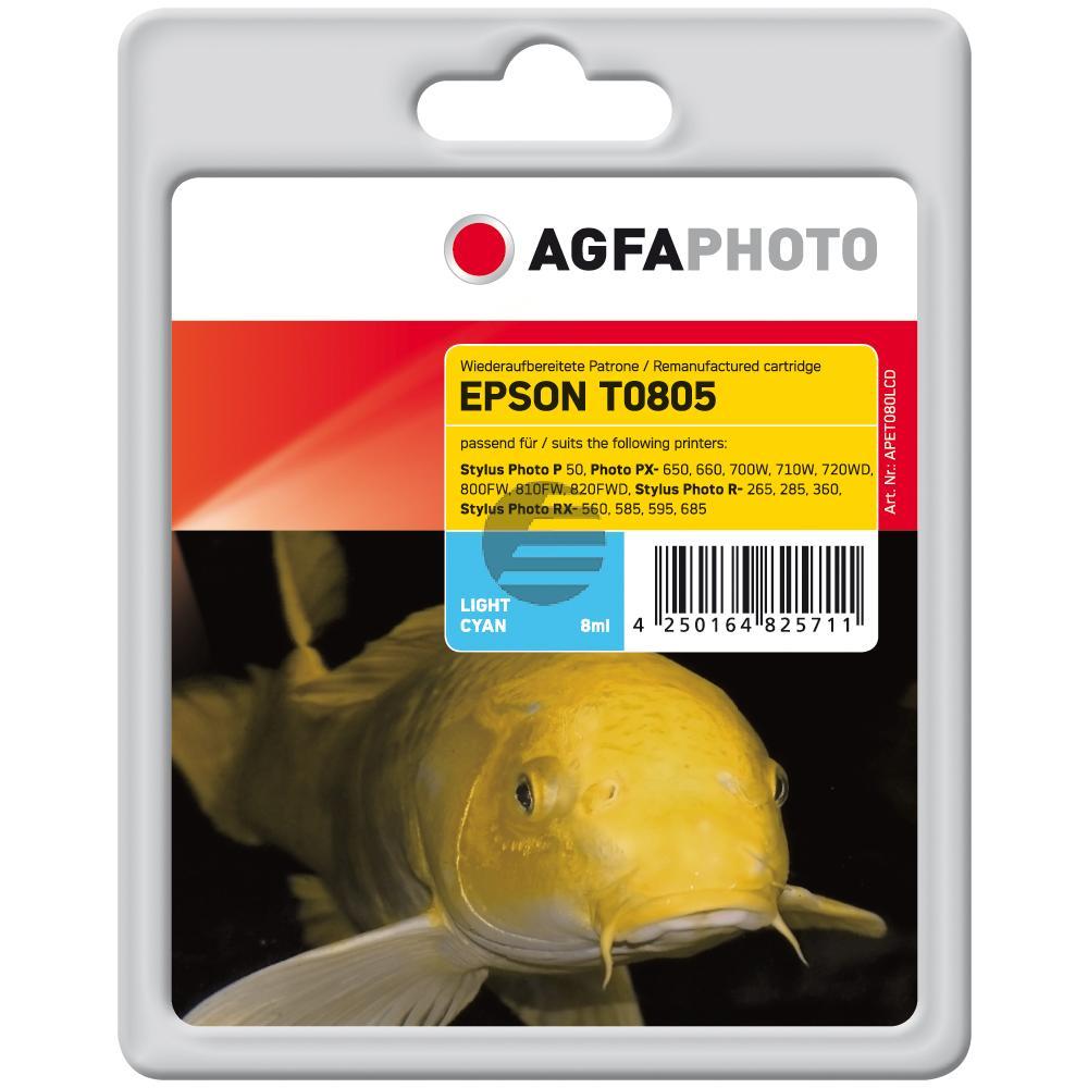 Agfaphoto Tintenpatrone cyan light (APET080LCD) ersetzt T0805