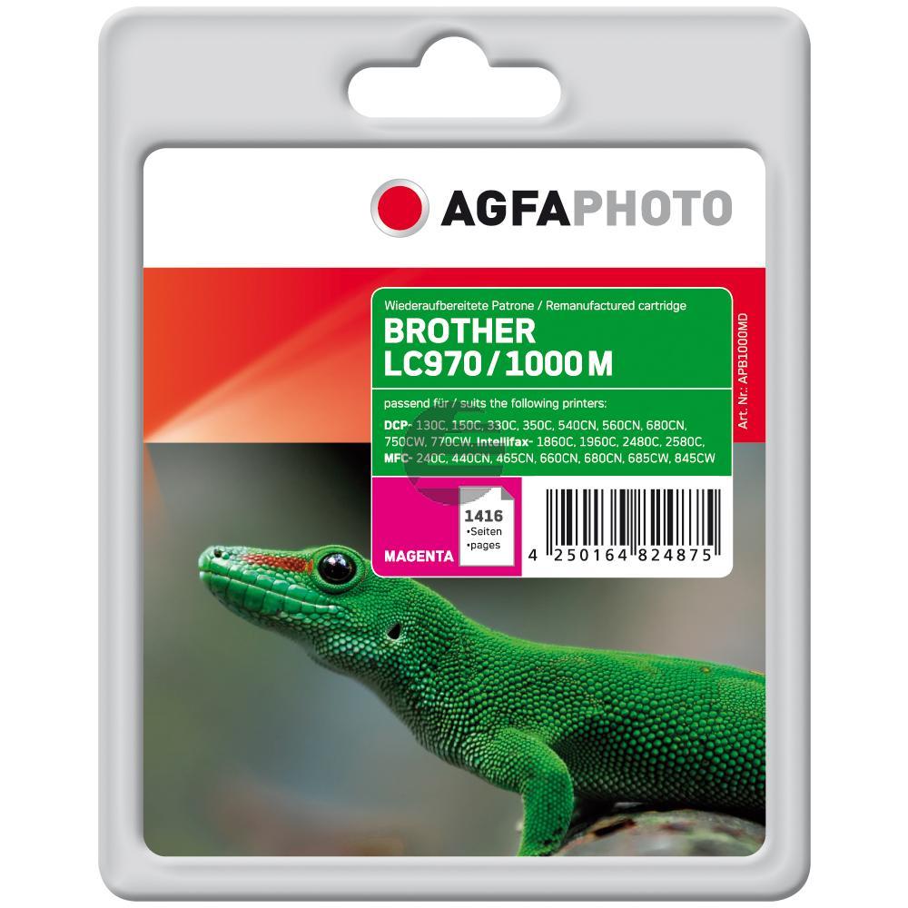 Agfaphoto Tintenpatrone magenta (APB1000MD) ersetzt LC-1000M, LC-970M